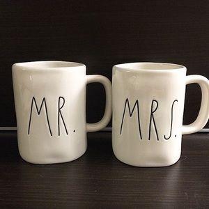 Rae Dunn Mr. And Mrs. Coffee Mugs